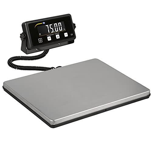 PCE Instruments Balanza digital de plataforma con funcion de contaje de piezas (Rango: 75 kg, Resolución: 0,02 kg, Precisión: ±0,06 kg) PCE-PB 75N