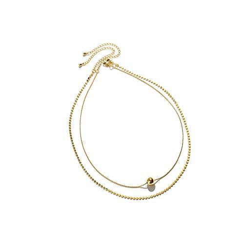 ZRJ Collares para mujer, joyería de moda, pendientes, gargantillas, para mujer, joyería, regalo, regalo de San Valentín, regalo (color: B)