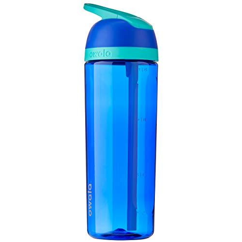 Owala Bouteille d'eau transparente avec paille pour le sport et les voyages, sans BPA, 758,7 g, Smooshed Blueberry