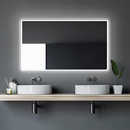 LED Badspiegel Talos Moon 120x70 cm– Lichtfarbe 4200K - Modernes Design und hochwertige Beschichtung