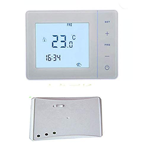 Homyl WIFI Digital Funk Thermostat Fußbodenheizung LCD Raumregler, programmierbar - Weiß