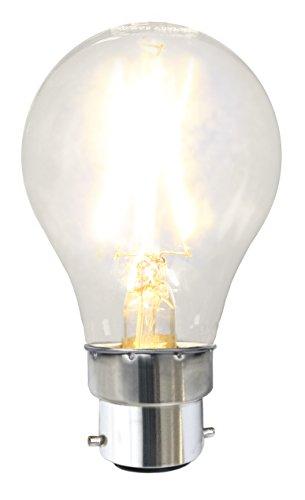 Tecstar Star Décoration de Jardin, LED Filament, B22, 2700 K, 80 RA, A + +, Transparent, 6,0 x 6,0 x 10,7 cm, 352–20–2