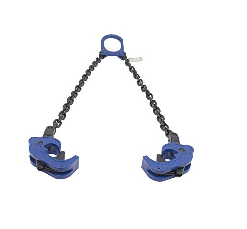 Mytee Products Chain Drum Lifter 2000 lbs WLL Lift Barrel Lifter Vertical Hoist Self Locking (1 - Pack)