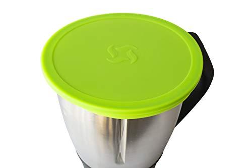Wundermix Silikon-Deckel für Thermomix TM6 / TM5 / TM31 | Dehnbares Frischhalte-Deckel BPA-frei & wiederverwendbar | perfekt für die Aufbewahrung von Lebensmitteln | Grün…