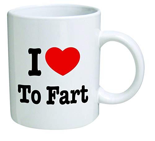 Taza divertida - Me encanta tirarme pedos - Tazas de café de 11 oz - Regalos inspiradores y sarcasmo - Por TM