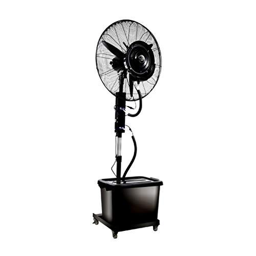 Standventilator mit Sprühnebel Luftbefeuchter/Standventilatoren/Sprühnebel ventilator outdoor/Ventilator Vernebler Außen Mikroklima Terrasse Garten Bar Wassertank 42 Liter