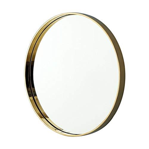 Miroirs Miroir Mural Miroir Mural Miroir Rond Doré Porche Salle De Bain Miroir Rond Miroir De Chambre Miroir De Salon Mur De Porche (Color : Gold, Size : 50cm/19.7inches)
