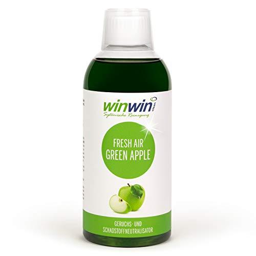 winwinCLEAN Systemische Reinigung - Fresh AIR LUFTREINIGUNGS-Konzentrat Green Apple\' 500m l AUCH BESTENS GEEIGNET FÜR DEN Einsatz IM proWIN AIR Bowl