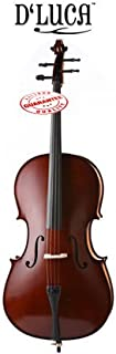 D'Luca Meister Handmade Ebony Fitted Cello with Hard Case Full Size 4/4