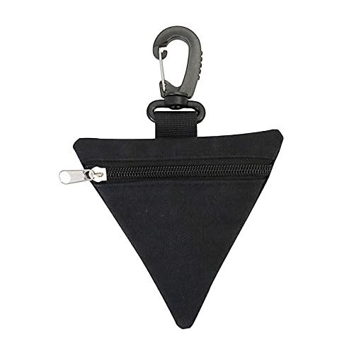 SM SunniMix Pequeña Bolsa Molle Triángulo Camping Senderismo Monedero Mini Bolsa táctica Cambio Soporte para teléfono al Aire Libre Estuche para Bolsa de Cintura - Negro
