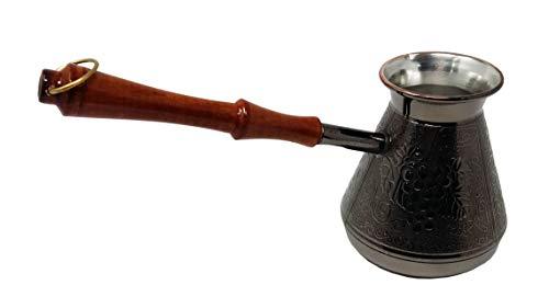 Madacha Kaffeetopf/Kaffeemaschine Turka, Kupfer, verzinnt, 450 ml, für alle Herdarten außer Induktion, hergestellt in Russland