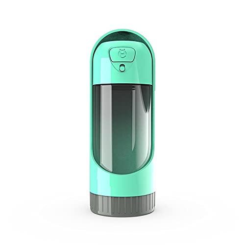 jwj Botella de agua potable para mascotas ligera para mascotas, gatos, perros, con filtro, a prueba de fugas, dispensador de bebedero para mascotas, botella de agua para viajes (color verde)