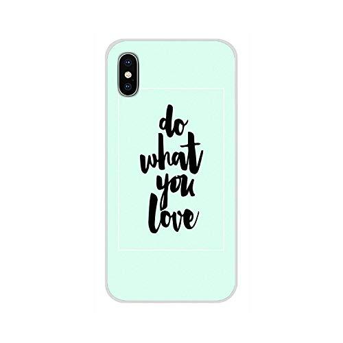 Semplice inglese parole frase circa l'amore fare ciò che ami telefono caso per iPhone - Immagini 11-per iPhone XR