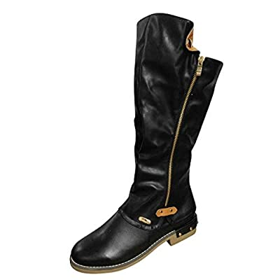 Middle Tube Boots Women Fashion Western Style Cowboy Riding Boots Casual Knee shoes