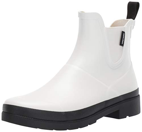 TRETORN Women's Lina3 Rain Boot, Vintage White/Black, 8 M US