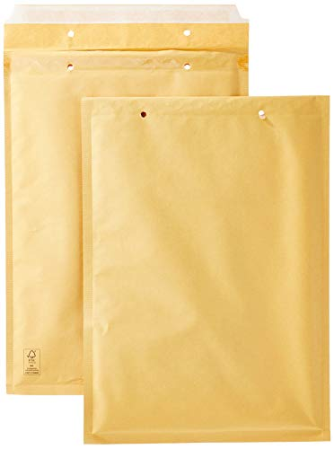AmazonBasics - Luftpolstertaschen, 230x340 mm, Braun, 50 Stück