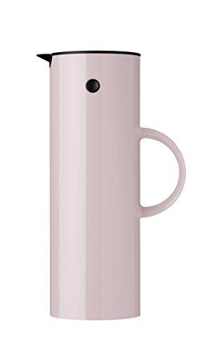 Stelton Isolierkanne EM77 - Doppelwandige Isolierkanne für heiße/kalte Getränke - Tee- & Kaffeekanne mit Glaseinsatz, Magnetverschluss, Schraubdeckel, Vintage-Design - 1 Liter, Lavendel