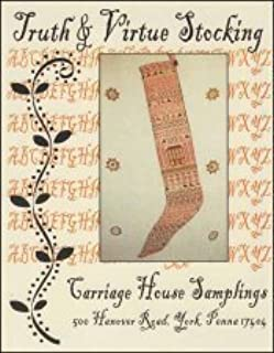 Truth & Virtue Stocking Cross Stitch Chart and Free Embellishment