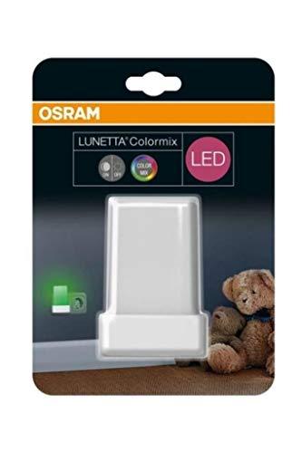 Osram LED Lunetta Shine RGB Nachtlicht Leuchte, für innenanwendungen, Tag-Nacht-Sensor, Farbwechselnd, 60, 0 mm x 60, 0 mm x 90, 0 mm