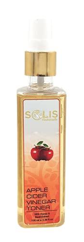Solis Naturals Apple Cider Vinegar Facial Toner for Face   Face Toner For Acne   Skin Toner for Sensitive Skin   Vegan, Cruelty-Free, Natural and Clean Skincare Mist (100ml)