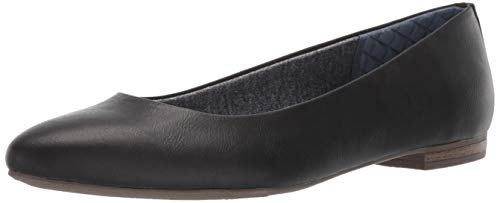 Dr. Scholl's Shoes Women's Aston Ballet Flat, Black Smooth, 10 M US