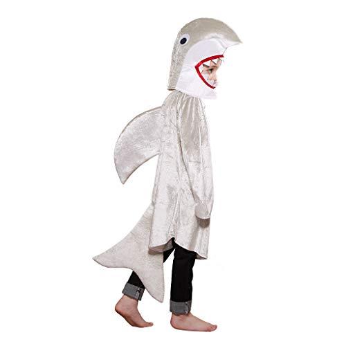 EraSpooky Disfraz de Tiburón Unisex Traje de Animal Disfraces Mascota Fiesta de Halloween Traje Divertido