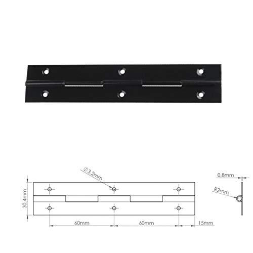 Bmf Direct® Klavierband mit Löchern, aus Stahl, 1 m, 1000 mm, 2 Stück, verschiedene Farben
