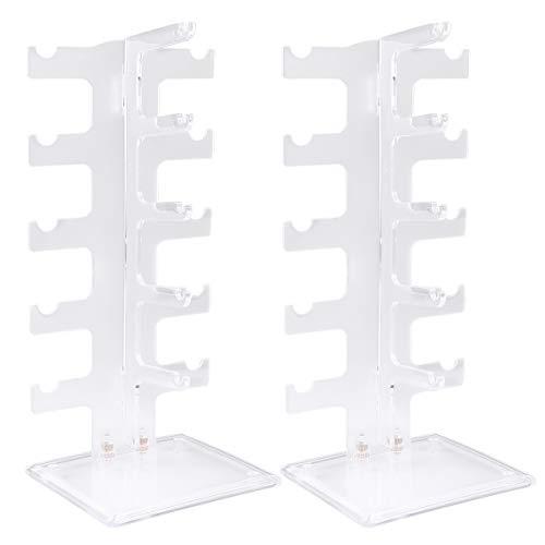 TOPBATHY 2 unidades de marco de cristal acrílico duradero para almacenamiento de...