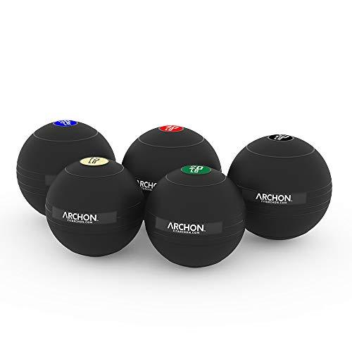 ARCHON Training 15LB, 20LB,30LB, 40LB, 50LB Pound Slam Ball Set | No Bounce Exercise Ball | Gym Equipment Accessories | Plyometric | Cardio | Jam Ball | Squats | Medicine Ball