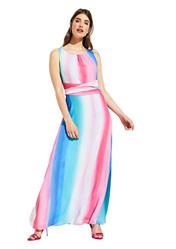comma Damen 8T.905.81.3060 Kleid, Mehrfarbig (45s1 Multicolor Stripe 45s1), (Herstellergröße: 42)