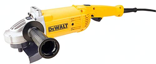 DeWalt DWE496-QS DWE496-QS-Amoladora 230mm 2.600W 6.500 RPM Suave + Bloqueo y re-Arranque, Schwarz/Gelb