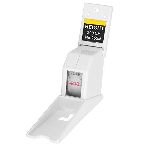 Hoogte meetlint, 2 meter Intrekbare volwassen kind hoogte gereedschap liniaal metalen meetinstrument voor hoogte meting Kleur: wit