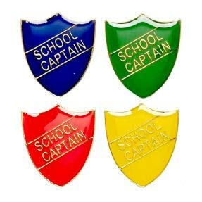 school captain shield metal pin