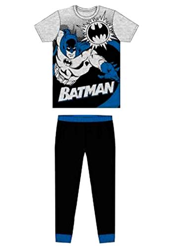 Herren Erwachsene Neuheit Batman Spiderman Superman Avengers Jurassic Park Harry Potter Pyjama PJ Set Fancy Dress – Größe S-XL Gr. XL, L18 Herren Pjs Batman, Schwarz