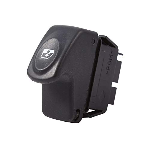 Interruptor de la Ventana Interruptor de Control de Ventana eléctrica de 12V 6 Pin 6 Pins Compatible con Renault Clio II 2 Megane I Kangoo Single Power Window Interruptor de plástico Reemplazo