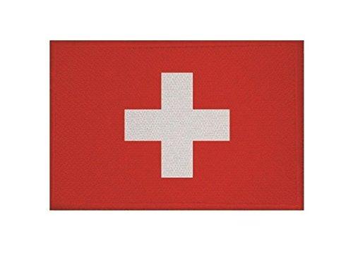 U24 Aufnäher Schweiz Fahne Flagge Aufbügler Patch 9 x 6 cm