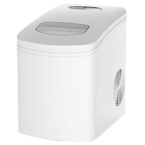 Elektrische Weiße Eismaschine Milchteeladen Bar Händler Gewerbliche Eismaschine,LMM Eismaschine Würfelmaschine 2 Größen,tragbare Elektrische Maschine Mit LED-Anzeigelampen(weiß)