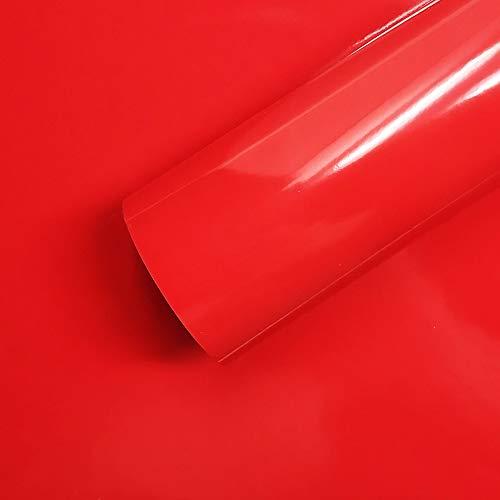 Foglio Pellicola Adesiva Per Wrapping Rosso Corsa, 35 X 50 Cm