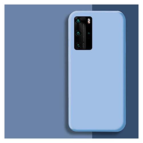 Protector de pantalla de silicona líquida original para Huawei P30 P20 P40 Mate 20 30 Honor 20 Lite Pro P Smart 2019 Luxury Soft Protector Cover (color: azul claro, tamaño: para Honor 10 Lite)