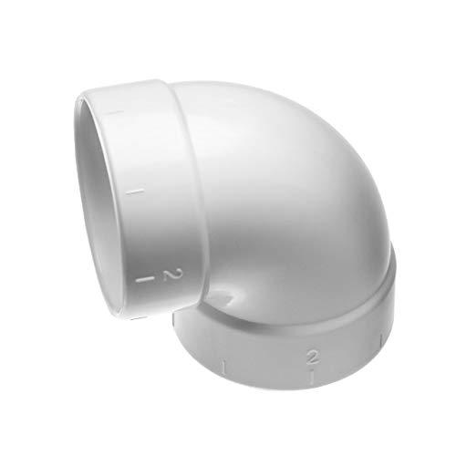 vhbw 90° Rohrbogen, kurz, innen/innen passend für Zentral-Staubsaugeranlage, 50.8mm Durchmesser / 2\'\'Rundrohrsystem