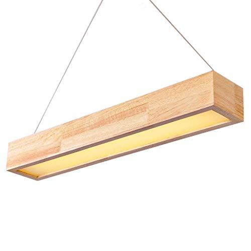 YANGQING Lámpara de techo de madera maciza, simple lámpara colgante (color: luz blanca-S), color: luz blanca l (color: amarillo luz-m)