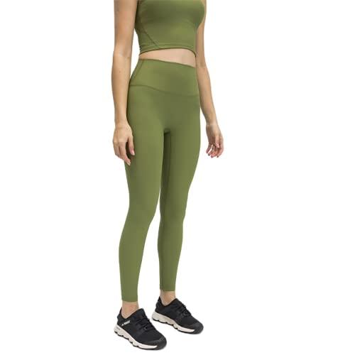 QTJY Pantalones de Yoga para Mujer de Color Puro, Cintura Alta, Medias de Cadera, Pantalones para Correr de Fitness elásticos al Aire Libre y de Secado rápido DM