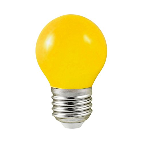 Vision-EL 77627B Ampoule LED, Aluminium/Polycarbonate, E27, 1 W, Jaune