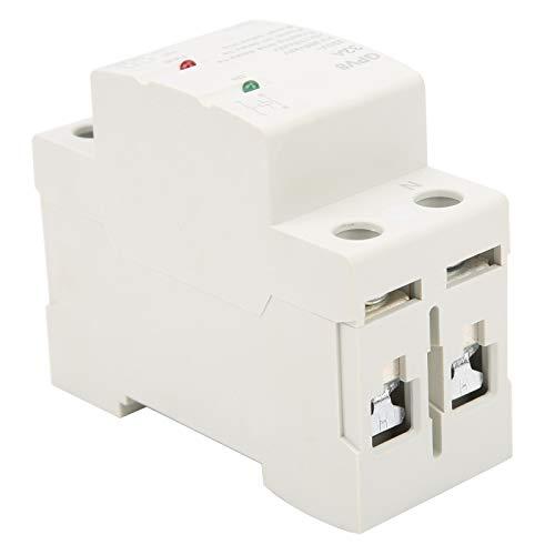 1 protector contra sobretensiones de voltaje, terminal IP20, dispositivo de protección ABS, panel frontal IP40 para instalación en riel DIN(32A)