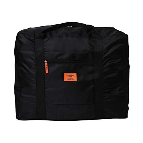 PULABO - Borsa pieghevole in nylon impermeabile per abiti da viaggio, borsa da viaggio, grande capacità, con finitura portatile, conveniente e di buona qualità