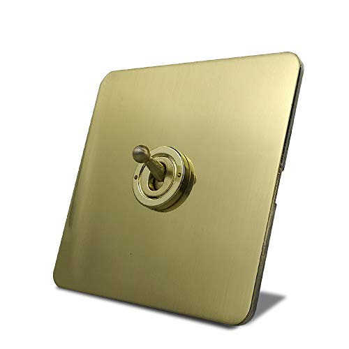 LifeX Interruptor De Palanca Satin Gold H6 Interruptor De Pared con Palanca...