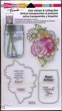 Stampendous Clear Stamps & Cutting Dies ~ Hello Birthday Mason Jar Flowers