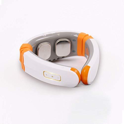MAMP Intelligent nekmassageapparaat Cervical massage schouder en nek massage apparaat halskettingen verwarming multifunctionele home nek massage sjaal elektrisch kussen oranje