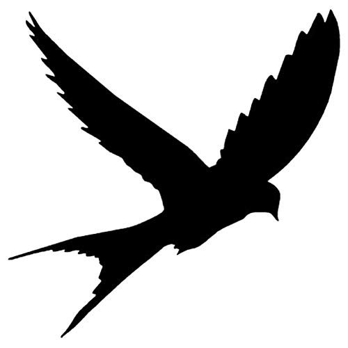 GQQ auto sticker 15.2 * 15.1Cm 2 stks schattig vogel Silhouette Vinyl auto Sticker en Decal auto Styling accessoires zwart/zilver Zwart