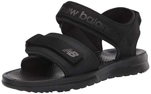 New Balance Men's 250 V1 Adjustable Sandal, Black/Black, 12 XW US